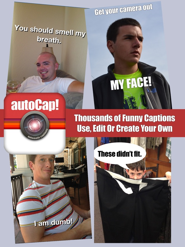 autoCap Free - Add funny text to Instagram photos & funny captions