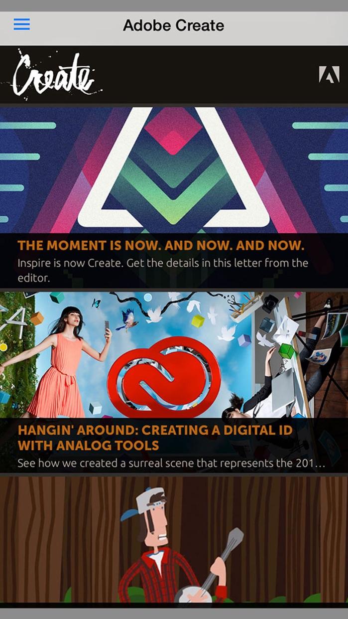 Adobe Create Magazine Screenshot