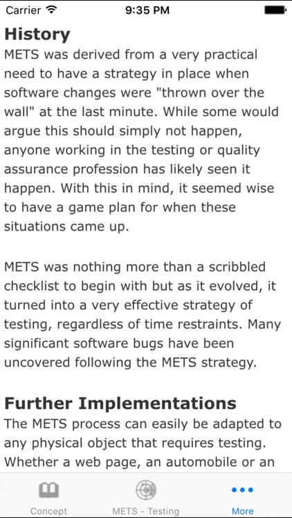 METS Testing Strategy screenshot-3