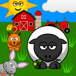 Funny Animals for toddlers: Discover farm animals and the wildlife of savanna, forest and jungle, with lifelike sounds and cute animations