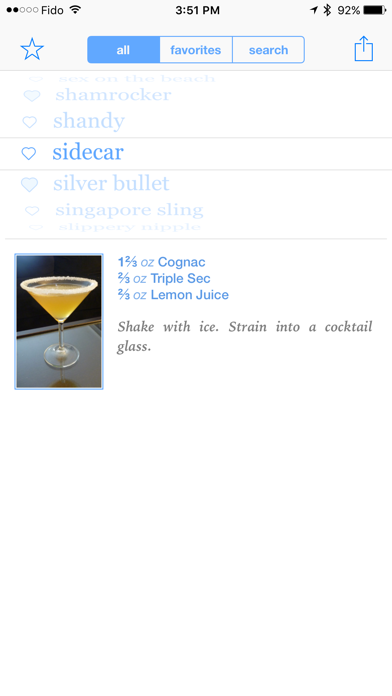 Drinks and Cocktails screenshot