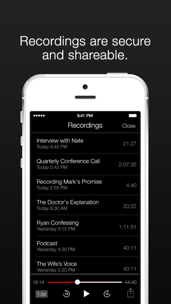 TapeACall Lite: Call Recorder Screenshot