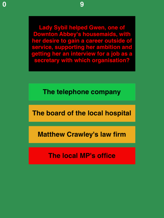 Trivia for Downton Abbey fans quiz-ipad-1