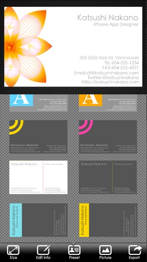 Businesscarddesigner business card maker with airprint on the app businesscarddesigner business card maker with airprint on the app store reheart Image collections