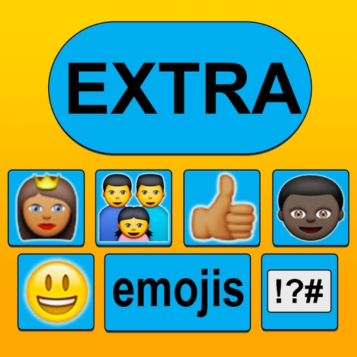 New Emoticon Keyboard - Extra Emojis for iOS 8 icon