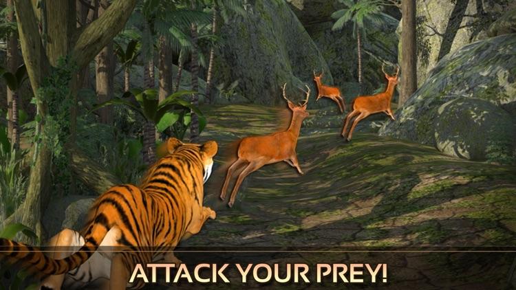 Wild Tiger Adventure 3D - Siberian Jungle Beast Animals Hunting Attack Simulator screenshot-3