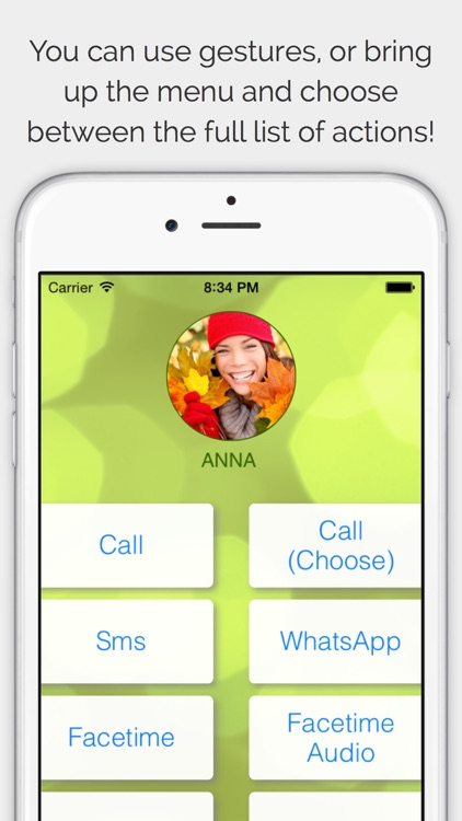 CallRight Pro  -  your favorite contacts from the addressbook promptly available for fast calls and messages and sms screenshot-3