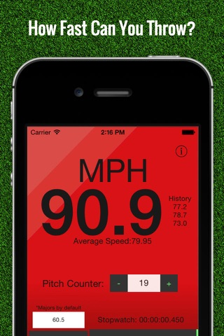 Baseball Pitch Speed - Radar Gun screenshot 1