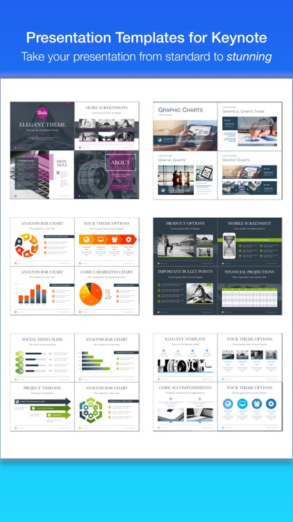 Presentation Templates for Keynote