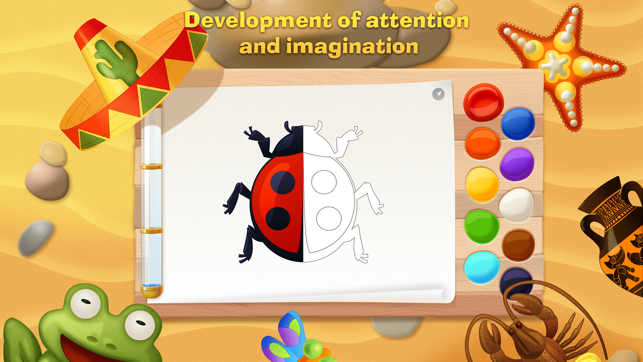 Tim the Fox - Paint - free preschool coloring game on the App Store