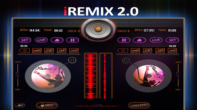 iRemix 2.0 Pro - Portable DJ Music Mixer Remix Tool screenshot-0