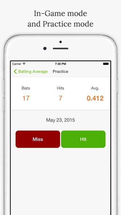 Batting Average - Baseball Stats screenshot-4
