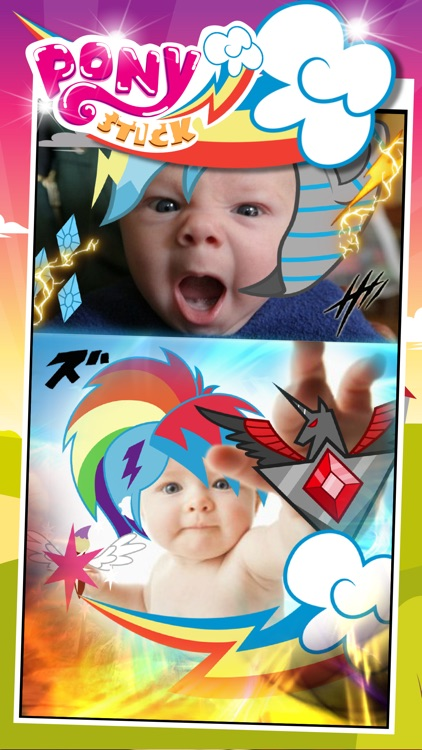 """Manga & Anime Sticker Camera Pony """"Photo Booth Dress Up in Style For Rainbow"""""""