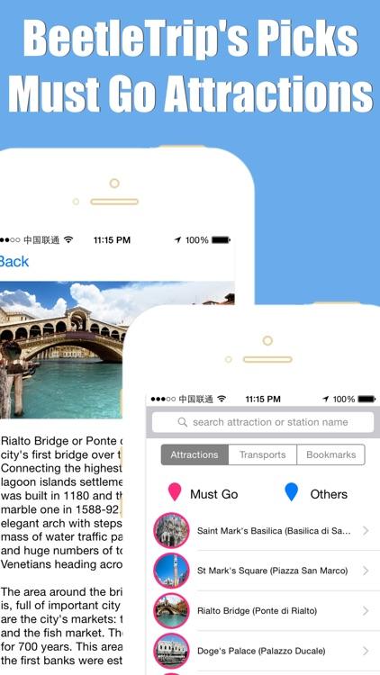 Venice travel guide and offline city map, Beetletrip Augmented Reality Veneto Venice Metro Train and Walks