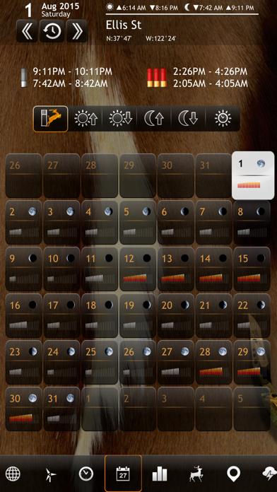 Solunar Calendar - Best Hunting Times and Feeding Screenshot