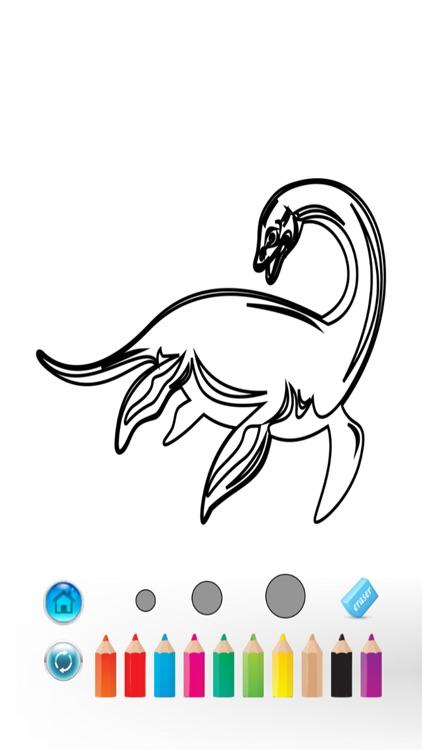 Dinosaurs Coloring Book - magic finger for kid games screenshot-3