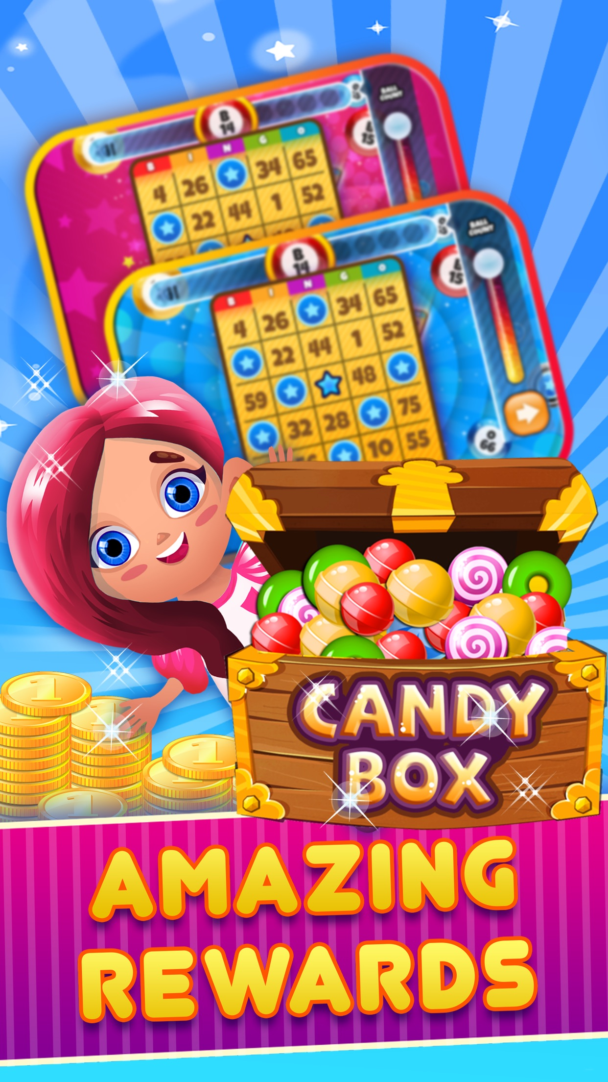 Bingo Candy Blast 2 - play big fish dab in pop party-land free Screenshot