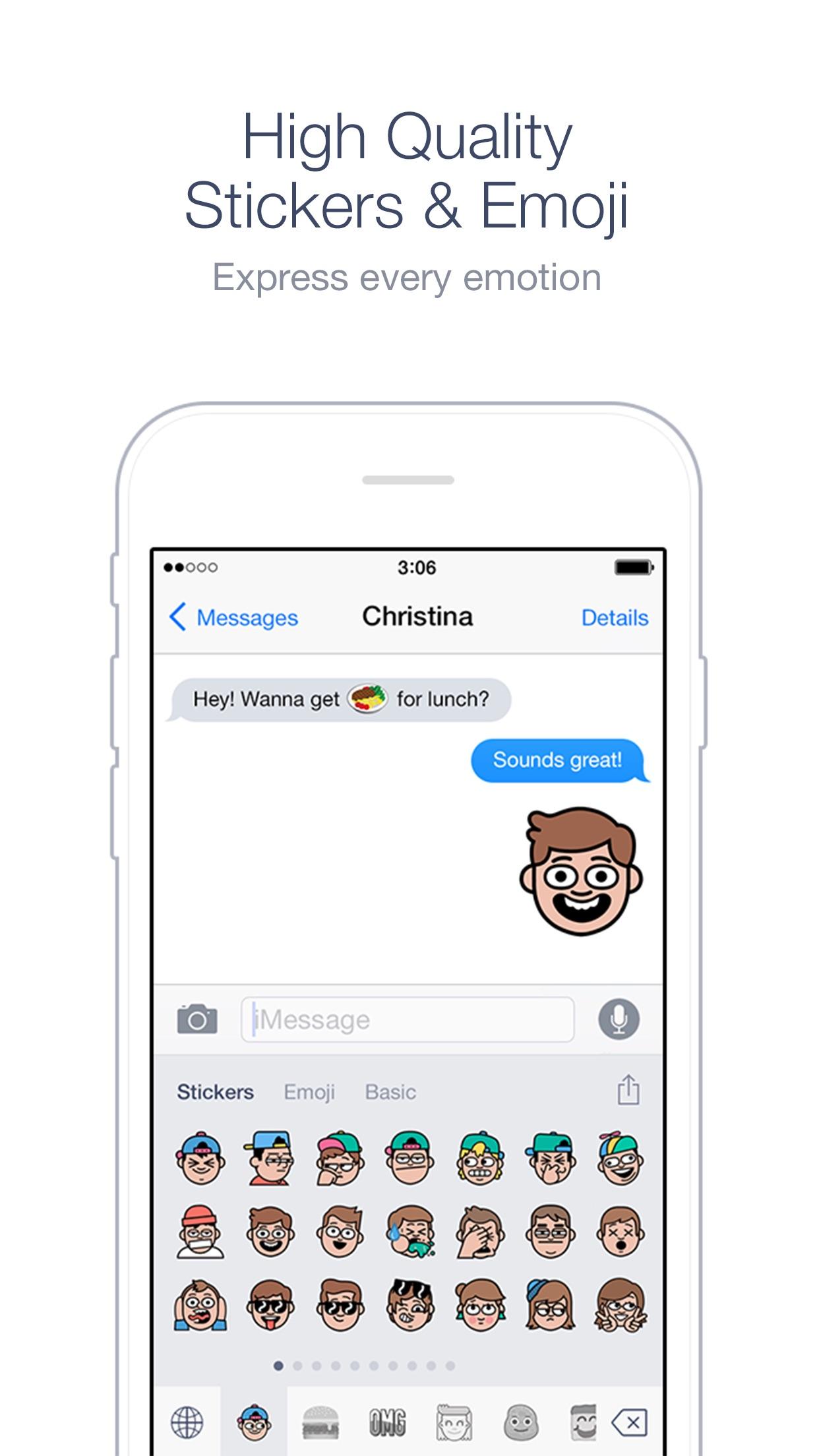 Screenshot do app Emoji Keyboard by LINE