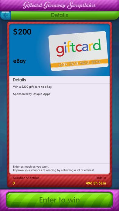 Giftcard Giveaway Sweepstakes screenshot two