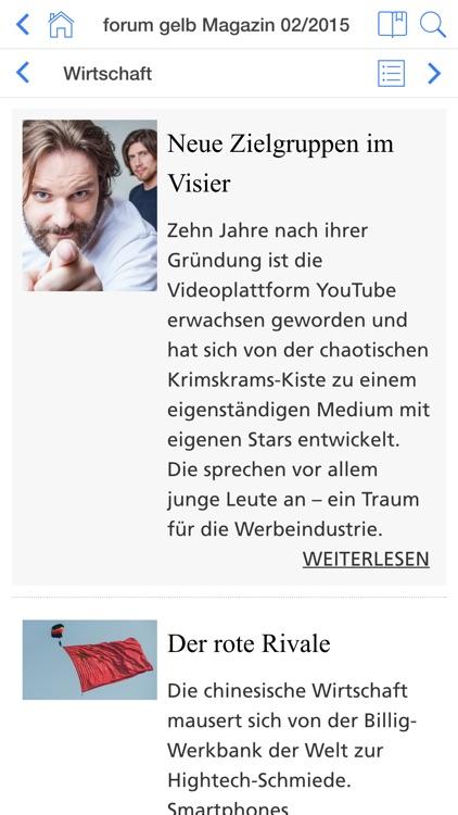 forum gelb Magazin screenshot-3