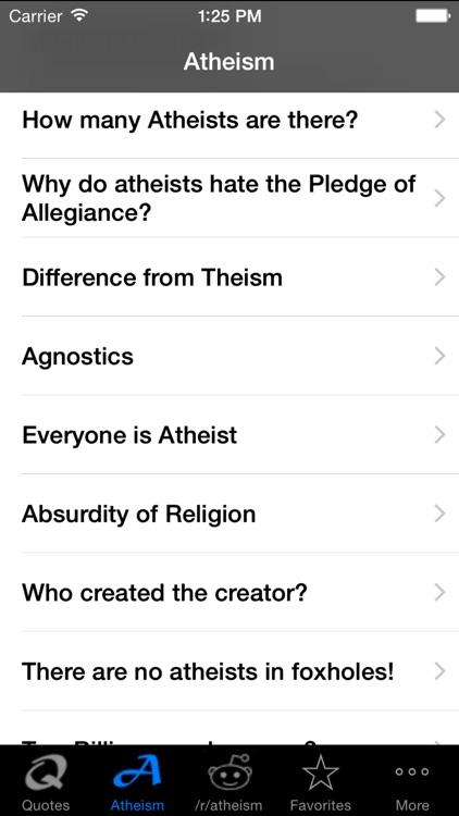 Atheism screenshot-3