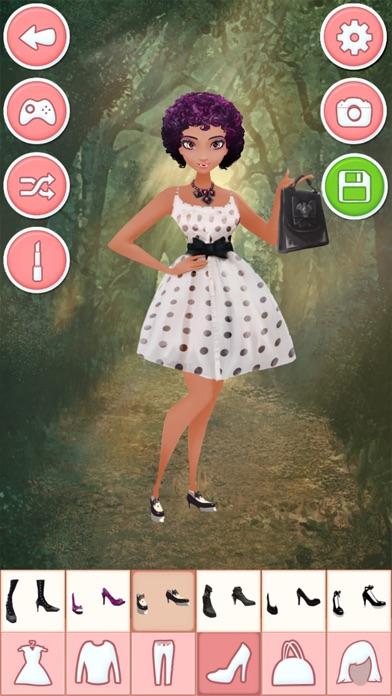 Anzieh spiele für mädchen vampir: schönheit, schmink und mode salonScreenshot von 4