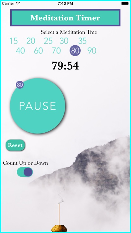 Meditation Timer That Counts Up Or Down With Sound