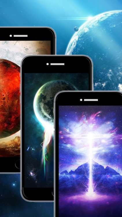 Galaxy Space Wallpapers & Backgrounds - Custom Home Screen Maker with HD Pictures of Astronomy & Planet screenshot-4