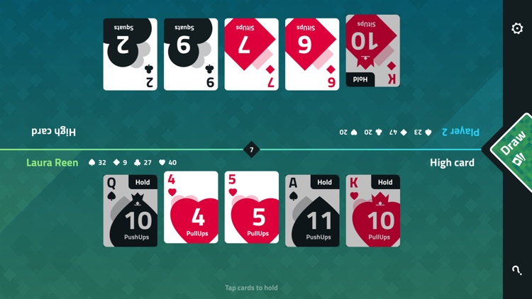 Fitness Poker: Fat Burning Physical Fitness Training Game with Body Shred Workouts screenshot-0