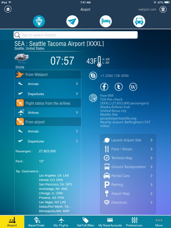 Airport (All) HD + Live Flight Tracker -all airports and flights in the world +flight status double check -radar screenshot-1