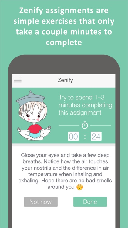 Zenify Premium - Meditation and Mindfulness Training Techniques for peace of mind, stress relief and focus screenshot-1