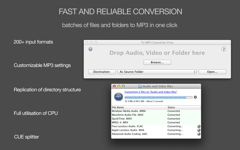 To MP3 Converter Free Screenshot