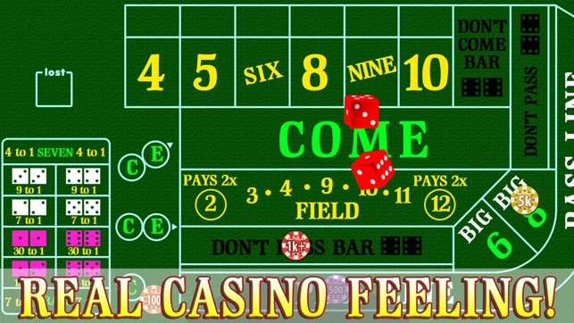 Secret winning craps system