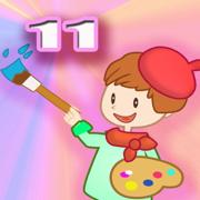 天才小画家 11 - 宝宝 幼儿给蔬菜涂色