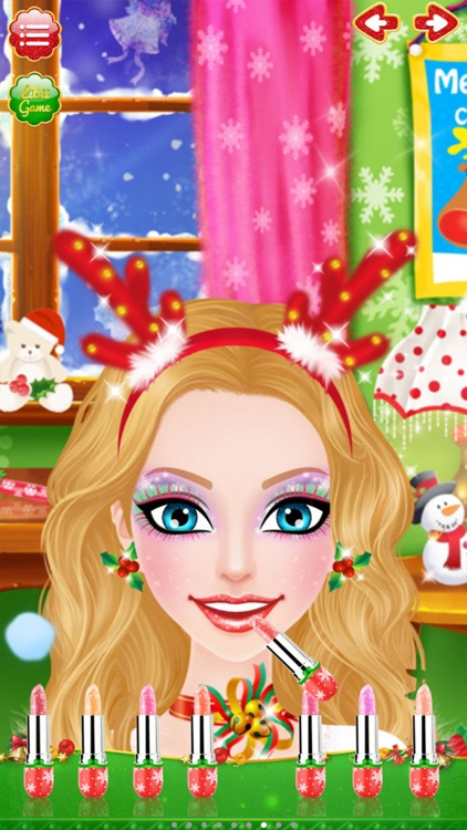Christmas Salon - Girls Makeup, Dressup and Makeover Games