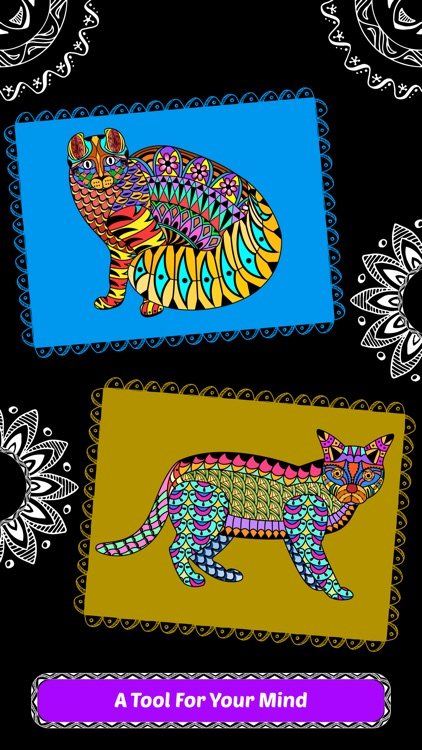 Creative Cats Art Class- Mindfulness Coloring Books for Adults screenshot-4