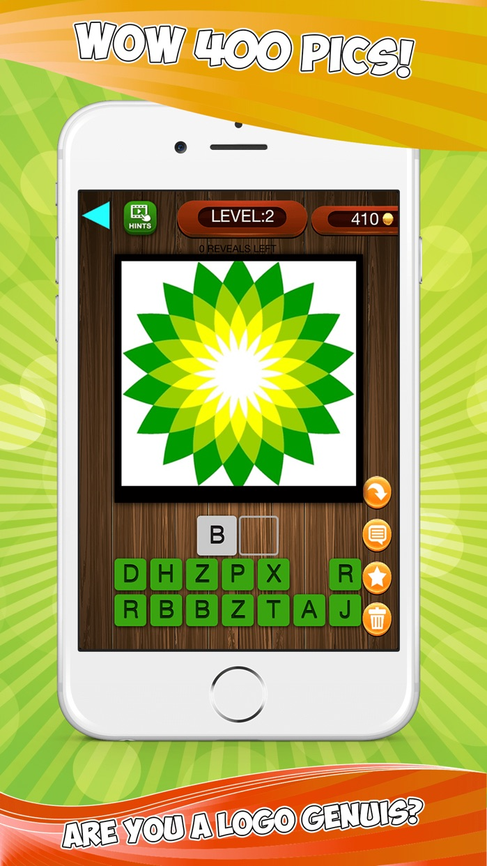 A LOGO 400 Trivia Puzzles Quiz - Play Guess Whats The Brand And Logos Pics Game - Free App Screenshot