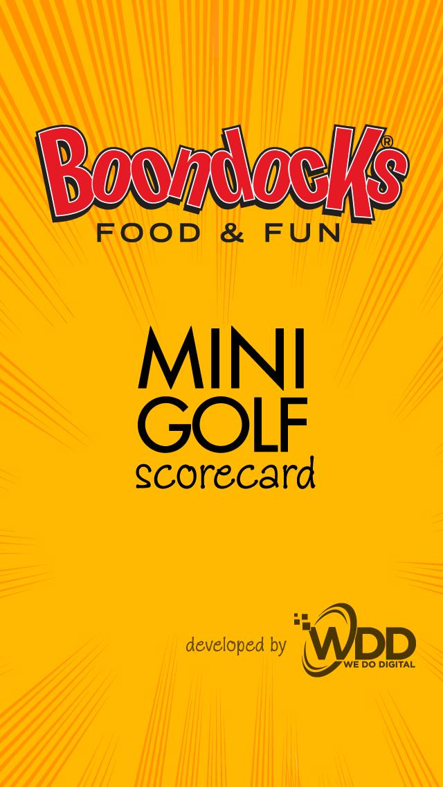 download Boondocks Mini Golf Scorecard apps 0