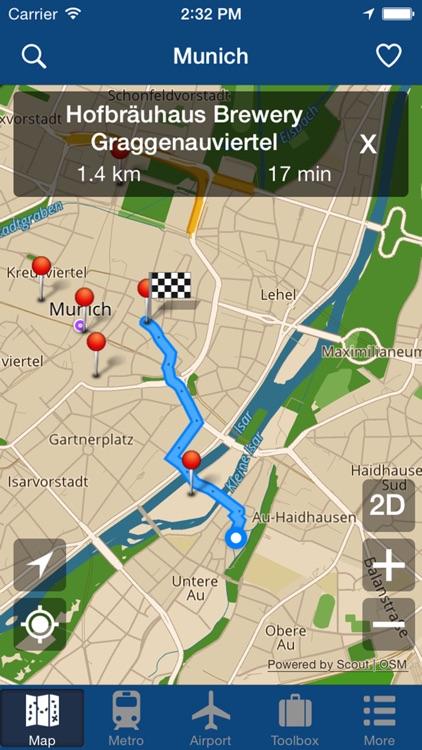 Munich Offline Map - City Metro Airport screenshot-4