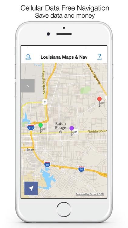 Louisiana Offline Maps & Offline Navigation screenshot-0
