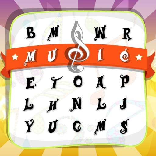 Wordsearch Music Singing Songs Puzzle Games