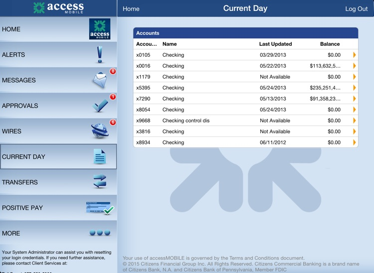 accessMOBILE for iPad by Citizens Commercial Bank screenshot-2