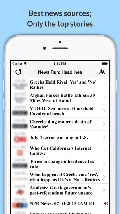 News Run: Top Headlines & Audio News on the Go!