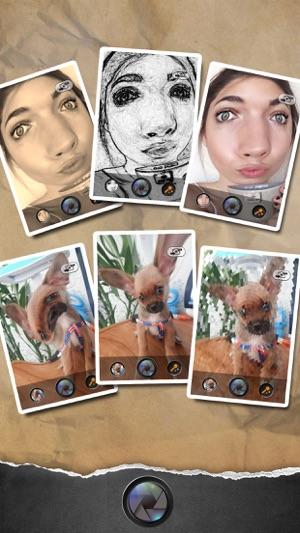 300x0w funny face selfie meme camera & split pic collage blender on the