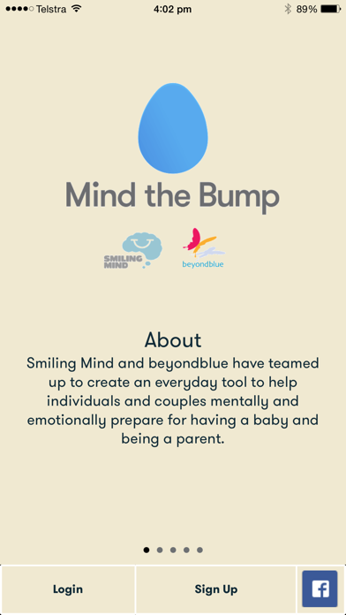 Mind the Bump - A Mindfulness Meditation tool for new and expecting parents screenshot one