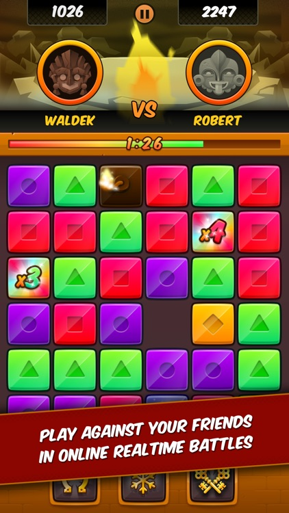 Temple Rush - Slide and Match Puzzle with Multiplayer Battles