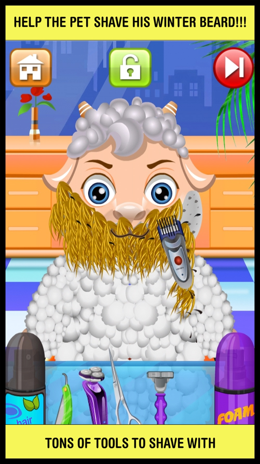 Animal Shave Pet Hair Salon Game for Kids Free Cheat Codes