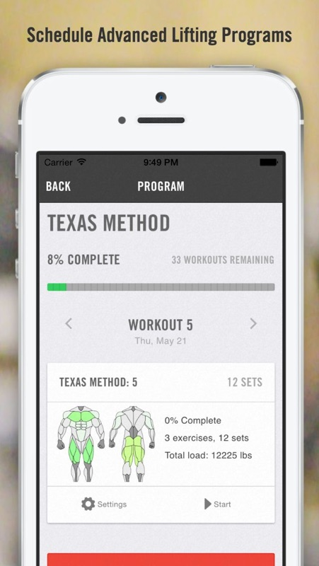 iron pro advanced strength tracker for weightlifting powerlifting