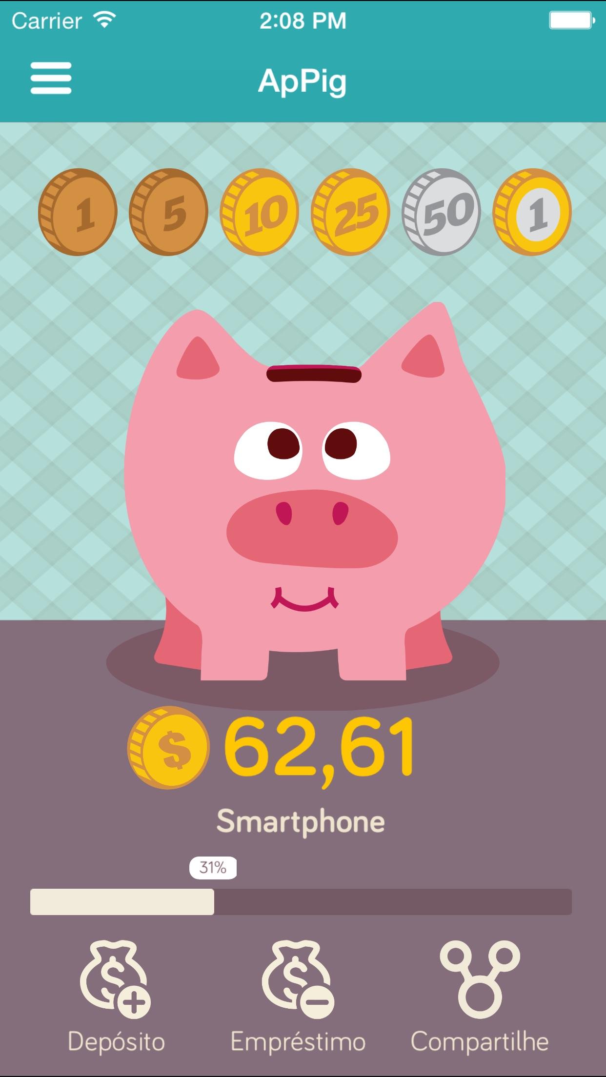 Screenshot do app ApPig