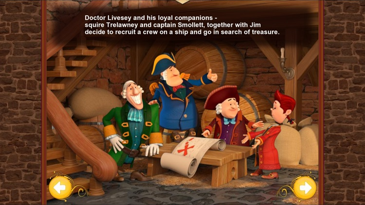 Treasure Island. An Interactive Children`s Book.